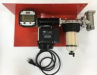 Мини АЗС 220В 56л/мин с насосом PANTHER 56 и электронным счетчиком с большим дисплеем PIUSI Италия  плеем