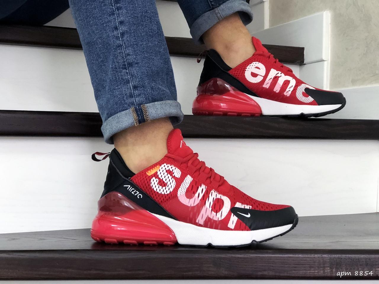 Мужские кроссовки Nike Air Max 270 Supreme (красные) 8854