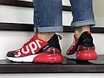 Мужские кроссовки Nike Air Max 270 Supreme (красные) 8854, фото 4