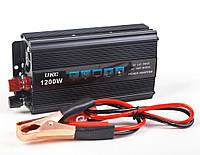 Преобразователь напряжения(инвертор) UKC 12-220V 1200W + USB Black (1881)