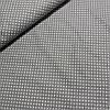 Ткань с мелким белым горошком 3 мм на сером, ширина 142 см