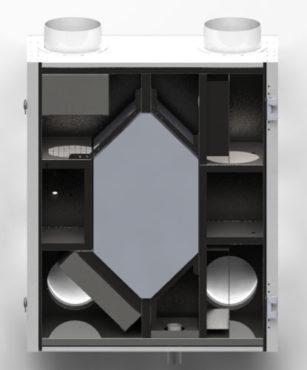 Приточно-вытяжная вентиляция с рекуперацией тепла Ventoxx Energy 350