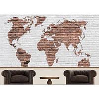 Фотообои Карта Мира коричневая лофт (10608)