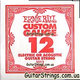 Струна Ernie Ball 1012 Plain Steel .012 (акустика/электро) 6-Pack, фото 2