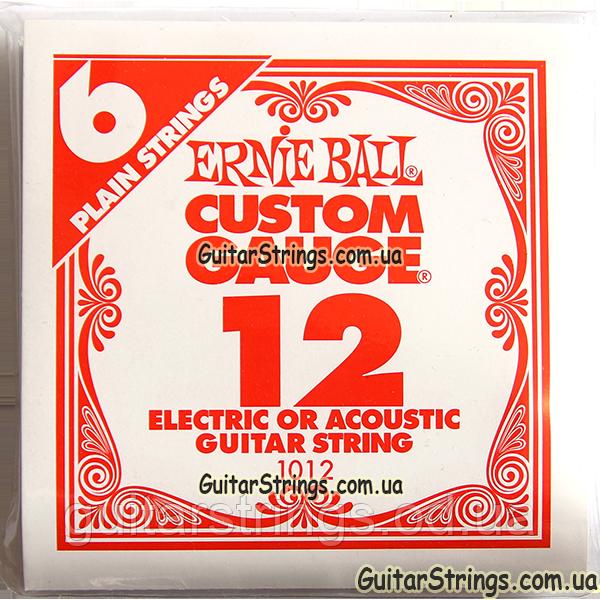 Струна Ernie Ball 1012 Plain Steel .012 (акустика/электро) 6-Pack