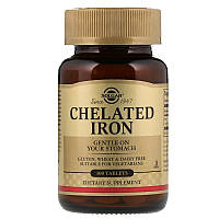Хелат железа (Chelated Iron) 25 мг 100 таблеток
