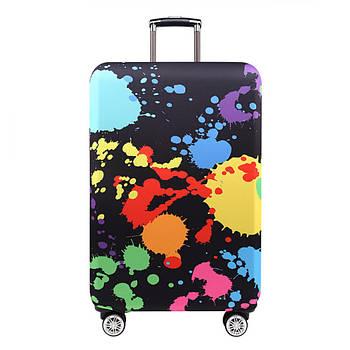 Чехол на чемодан защитный дорожный. Накидка эластичная для чемодана из микродайвинга, размер M