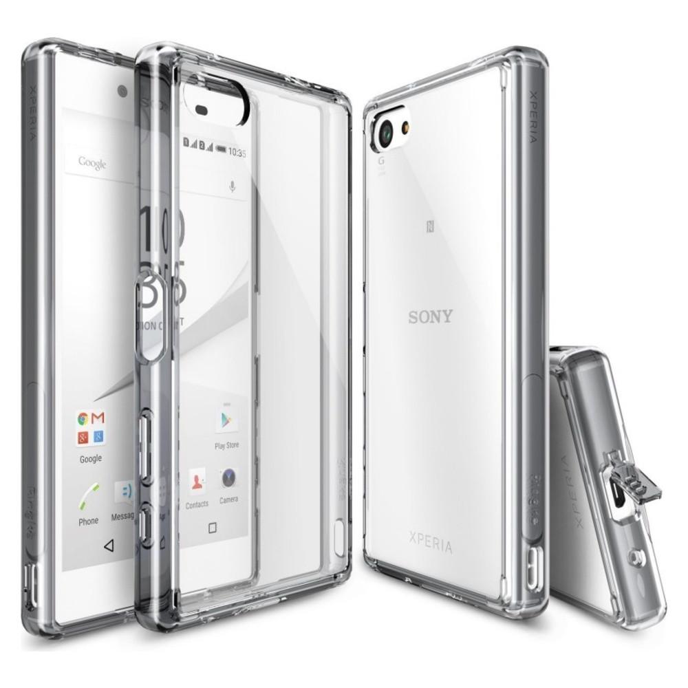 Чехол для Sony Xperia Z5 Compact (Smoke Black) – Ringke Fusion