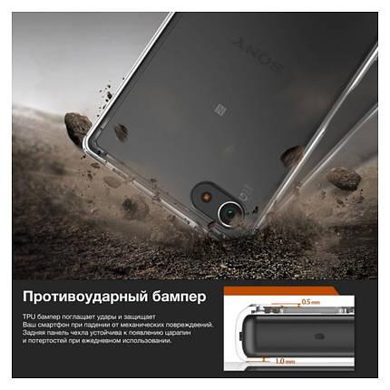 Чехол для Sony Xperia Z5 Compact (Smoke Black) – Ringke Fusion, фото 2