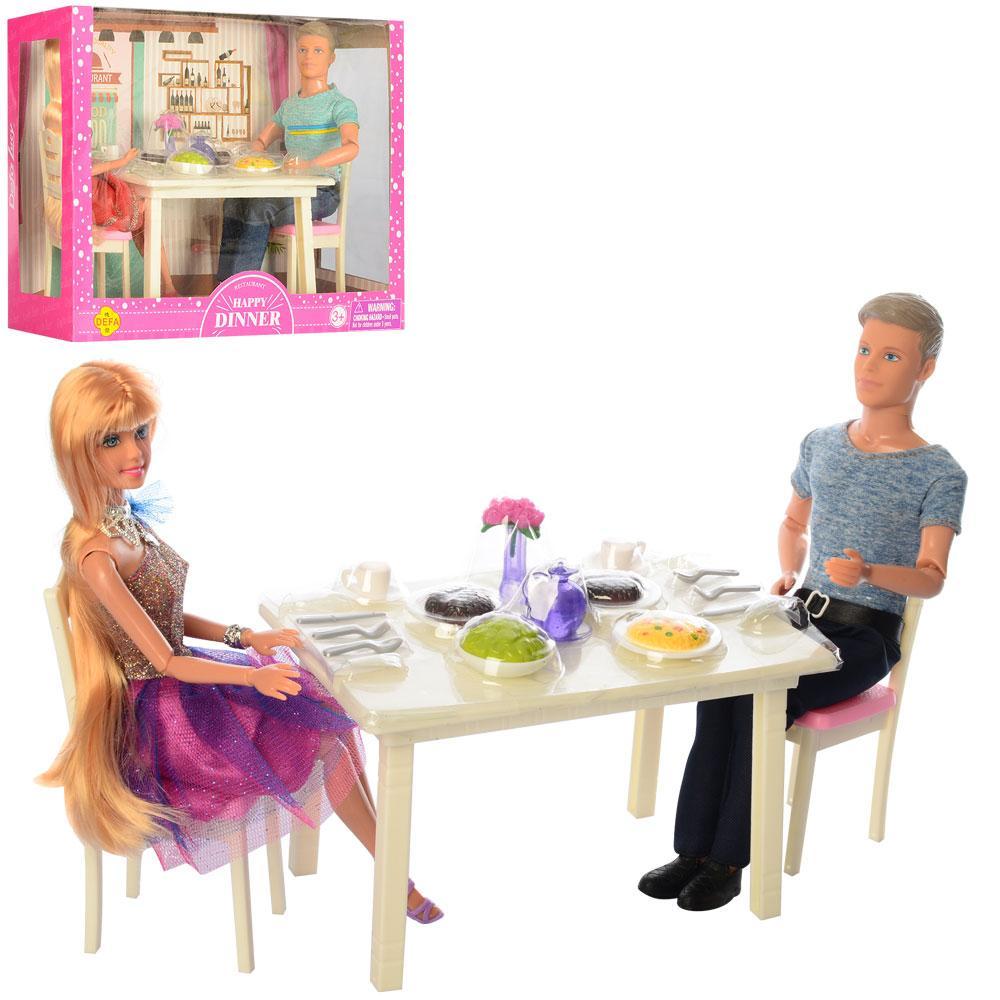 Сім'я ляльок DEFA, шарнірні, їдальня, посуд, 2 види, 8387-BF