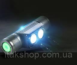 Налобний ліхтар Boruit D 25 ліхтарик 1000LM XM-L2 Оригінал, фото 2