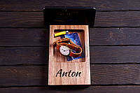 Орігінальна підставка для смарфону та телефону (оргонайзер), виготовлена з особливо ціної деревини.