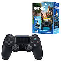 Геймпад Sony PS4 Dualshock 4 V2 Black + ваучер Fortnite (2019)