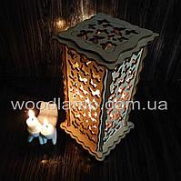 Соляной светильник Прямоугольный Бабочки ск
