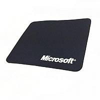 Черный коврик для мыши Microsoft Logictech 250х290х2мм, фото 1