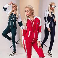 Модный спортивный женский костюм с капюшоном /разные цвета, S, M, L, ST-57019/