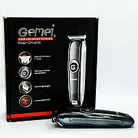 Профессиональная машинка - триммер для стрижки волос Gemei GM-6050 с насадками, фото 1