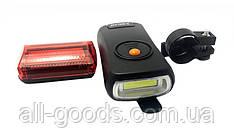 Велосипедный фонарь Bailong BL-908 (передний и задний) (3607)