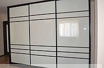 Двері в шафу купе 3 двері біле скло