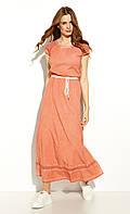 Летнее платье макси цвета корицы. Модель Lempi Zaps, коллекция весна-лето 2020