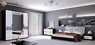 Спальня Терра / Terra MiroMark черный / белый глянец