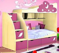 Двухъярусная кровать Дисней Модерн 80х200