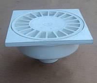 Трап для душа d 50 / 150x150, прямой, пластиковая решетка (Украина), канализационный