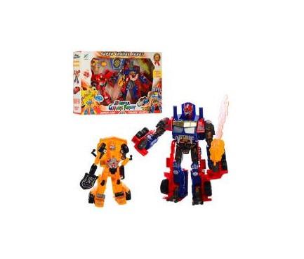 Трансформер Transformers, 2шт/упак., звук, свет, 3 цвета, 9-5