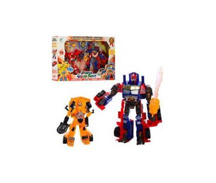 Трансформер Transformers, 2шт/упак., звук, свет, 3 цвета, 9-5, фото 2