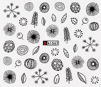 Слайдер дизайна для ногтей водный А-1567, фото 1