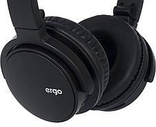 Наушники накладные беспроводные с микрофоном ERGO BT-490 Bluetooth Черный, фото 3