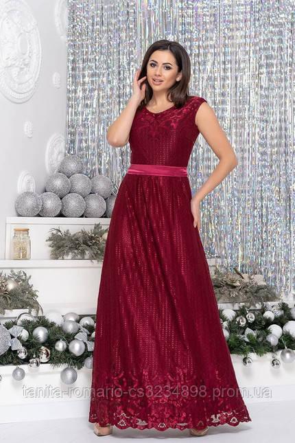 Вечернее платье 7172 Бордо