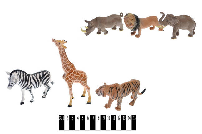 Набор диких животных, 3шт, 2 вида, HJ666-2, фото 2