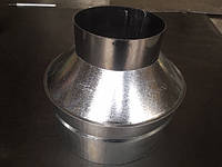 Оголовок  оцинков. 0,5 мм,диаметр 250 мм. дымоход