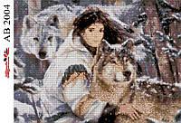 Алмазная вышивка АВ 2004 Волк  (полная зашивка)