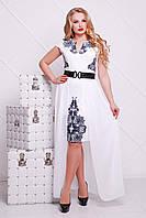 Платье большого размера со съемной юбкой Аркадия-Б XL, XXL