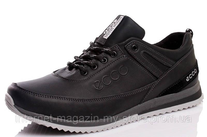 Мужские  кожаные кроссовки  E-S