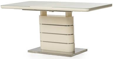 Стол раскладной TM-52-1 120/160 см МДФ+стекло Молочный TM Vetro Mebel