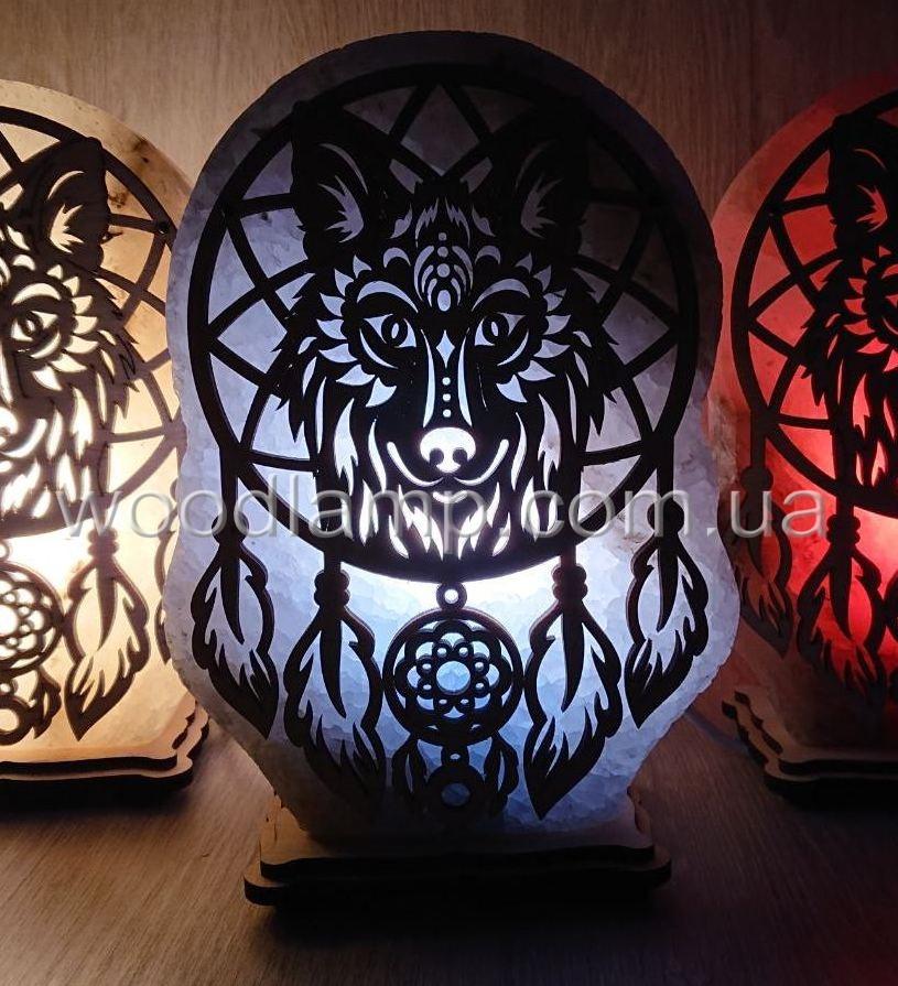 Соляная лампа Ловец снов Волк