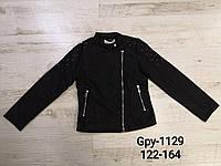 Куртка косуха для девочек эко-кожа 122/128-158/164 см, фото 1