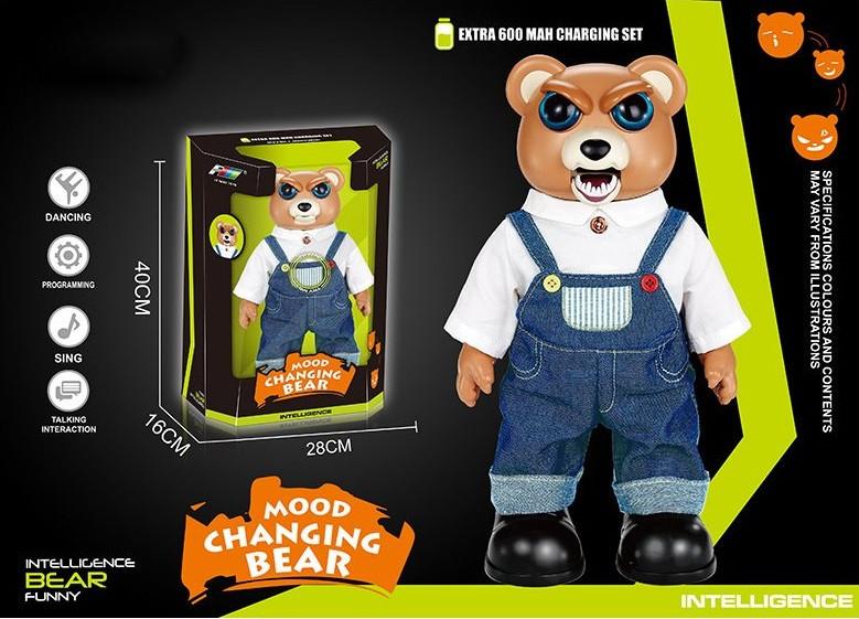 Медведь на р/у, USB, танцует, ходит, добрый-злой, K14