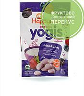 Happy Family Organics, Yogis, органические снеки из сублимированного йогурта с фруктами, ягодная смесь, 28 г, официальный сайт