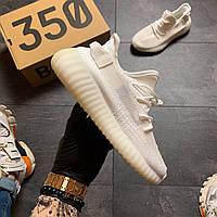 Мужские Кросcовки Adidas Yeezy Boost 350 v2 full white ., фото 1