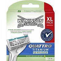 Сменные кассеты для бритья Wilkinson Sword Quattro Sensitive, 5 шт