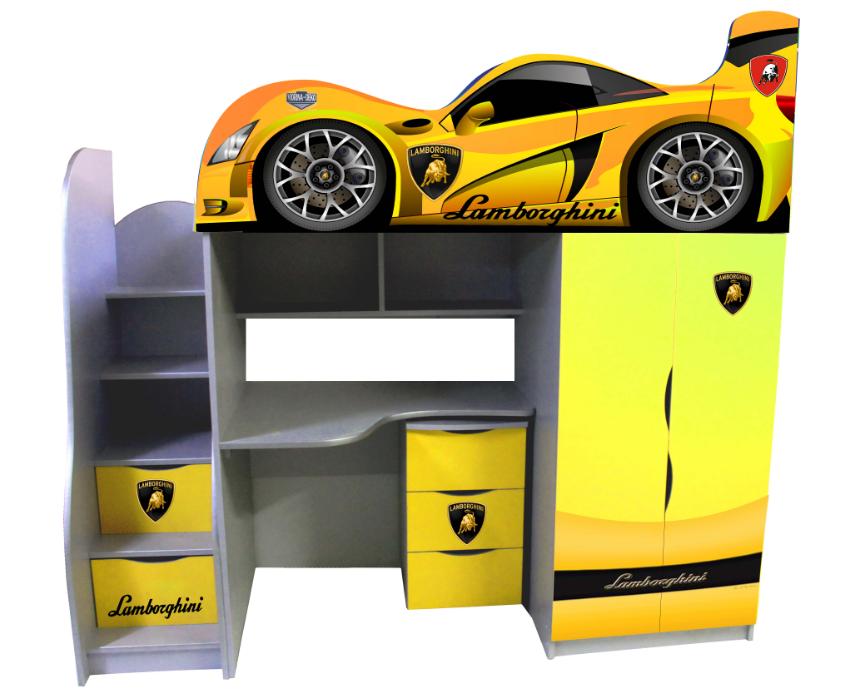 """Кровать-чердак Bed Room-1 """"Lamborghini """" серия Драйв"""