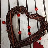 Сердечко-венок из дерева, 25х25 см., 75 гр.