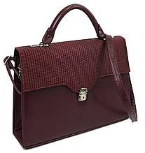 Женская деловая сумка, портфель из эко кожи Arwena бордовая
