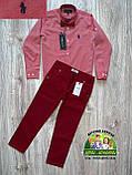 Бордовые брюки Polo для мальчика, фото 5