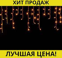 Sale! Гирлянда Дождик черный провод с вилкой и прозрачной конической лампой 3м 120LED (теплый белый), фото 1