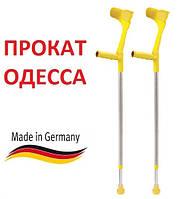 Прокат и аренда костылей (желтый) подлокотных, подмышечных милиці детские взрослые Одесса 0674883498 Татьяна